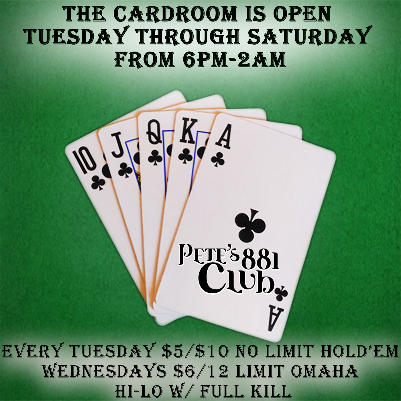 Cardroom Hours